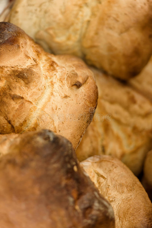 Fresh home made giant bread stock photography