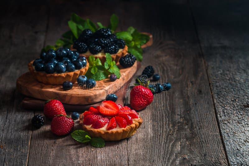Fresh homemade berrie tarts royalty free stock image