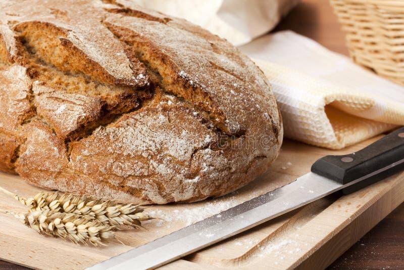 Fresh homemade bread still life stock photos