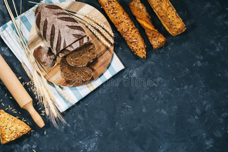 Download Fresh homemade bread stock photo. Image of food, homemade - 110757326