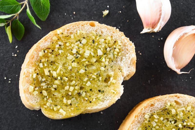Fresh Garlic Bread with Oregano royalty free stock photography