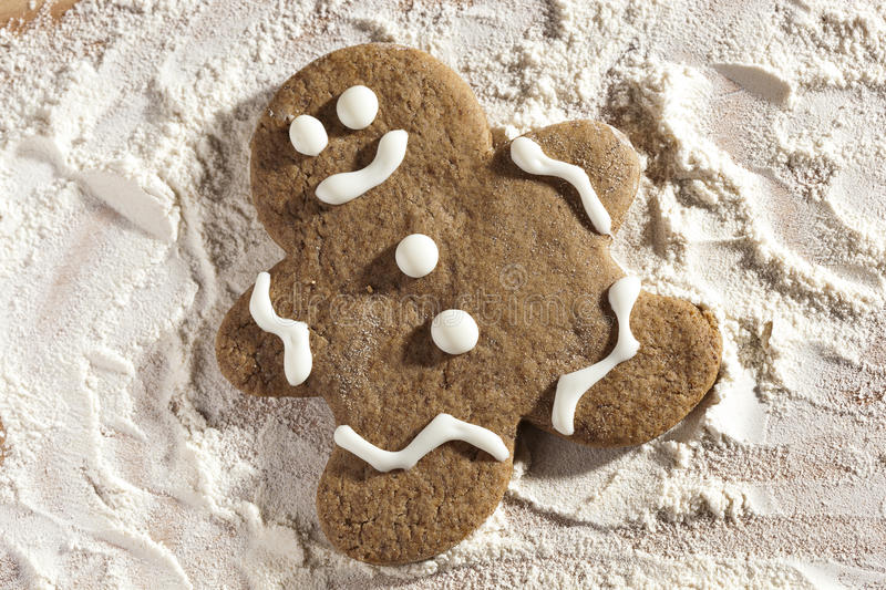Fresh Homemade Gingerbread Men. Ready for the Holidays royalty free stock photo