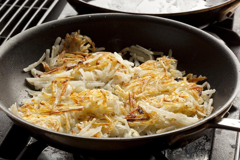 Fresh Homemade Hash Browns. To eat for breakfast stock photos
