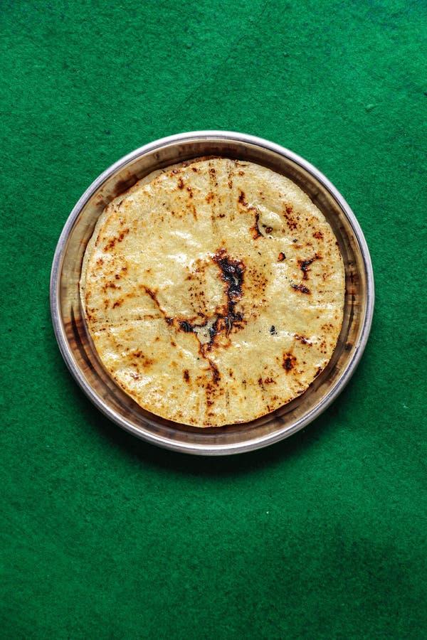 Free Fresh Homemade Indian Corn Bread. Makki Ki Roti Stock Photos - 203219603