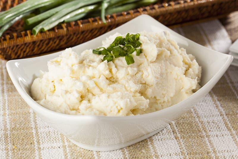 Fresh Homemade Mashed Potatoes stock photo