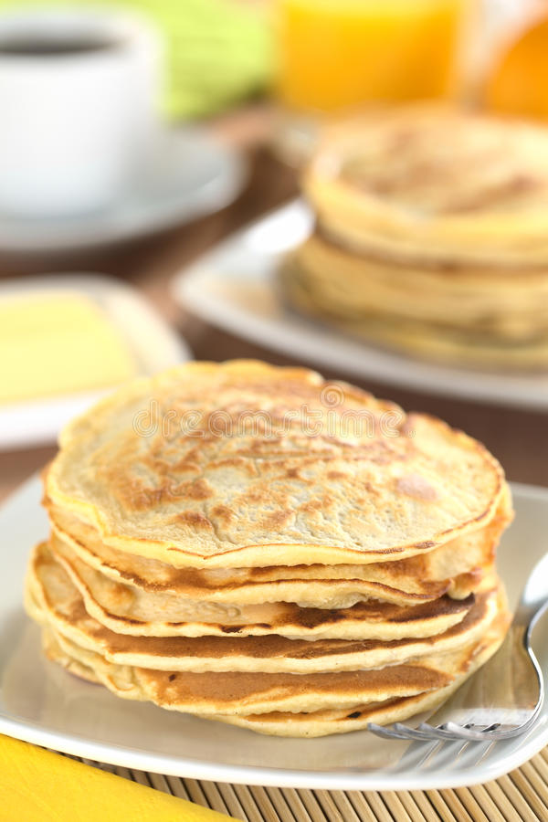 Fresh Homemade Pancakes stock photos