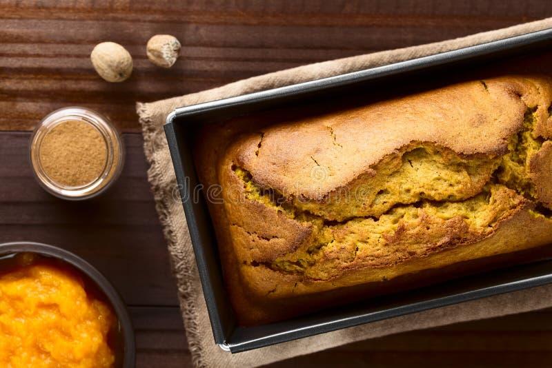 Fresh Homemade Pumpkin Bread royalty free stock photo