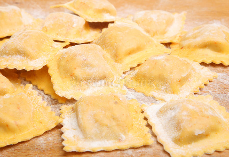 Fresh Homemade Ravioli stock image