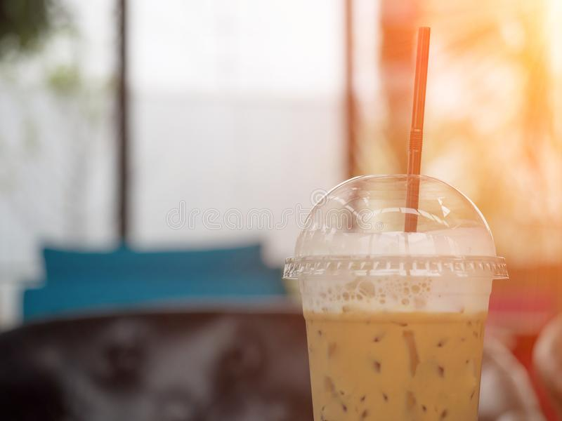Fresh ice capuccino coffee royalty free stock photography