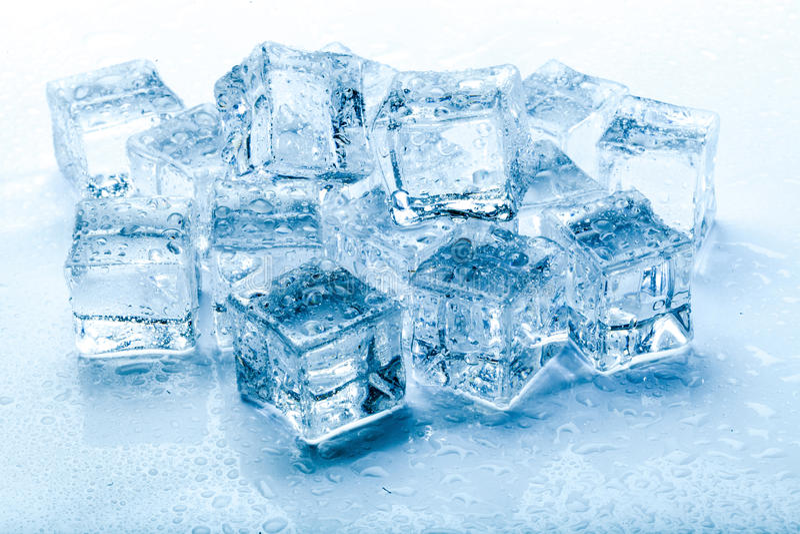 Fresh ice cubes stock photo