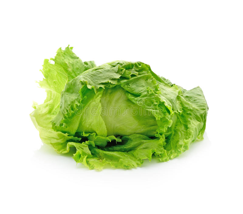 Fresh iceberg lettuce salad stock images