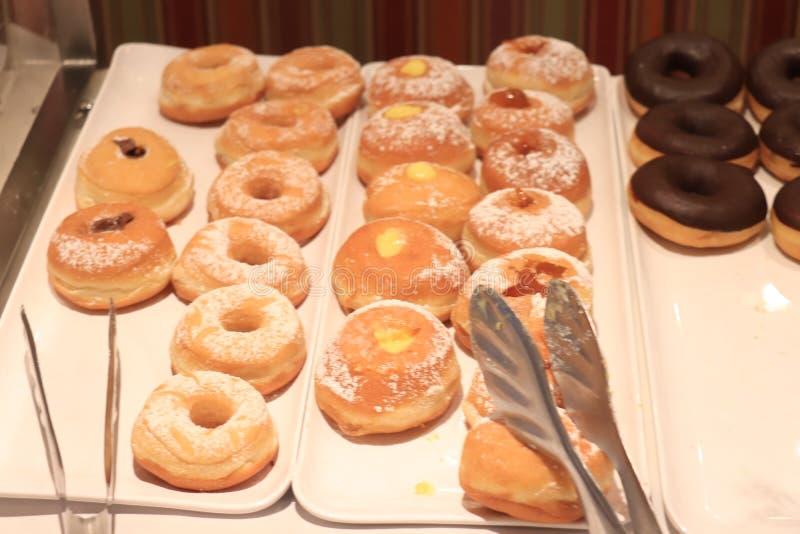 Fresh iced donuts stock photo