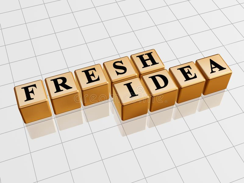 Fresh idea - golden stock photography