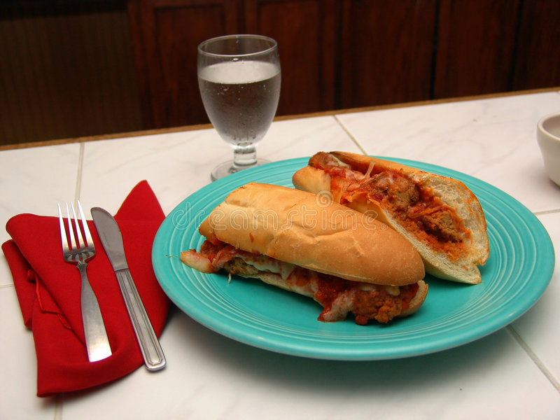 Download Fresh Italian Meatball Grinder Stock Photo - Image: 228126
