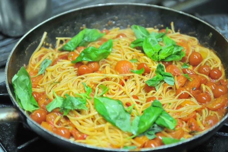 Fresh italian pasta stock images