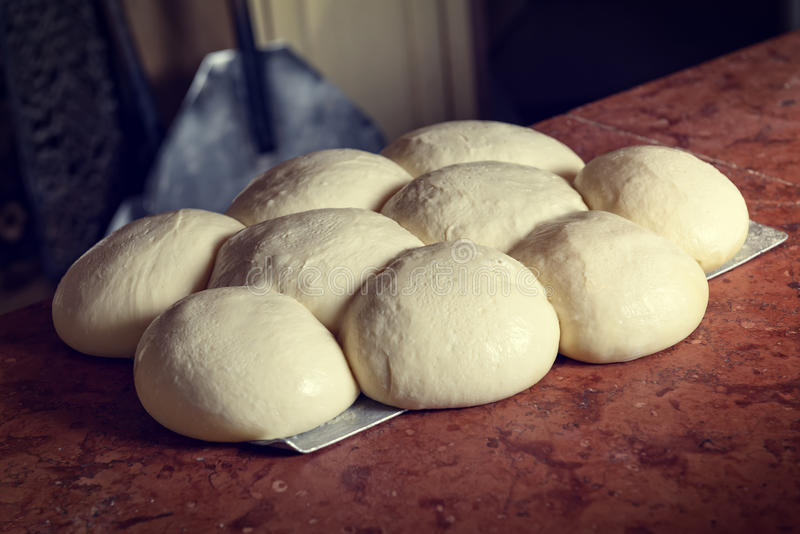 Fresh Italian pizza dough royalty free stock images