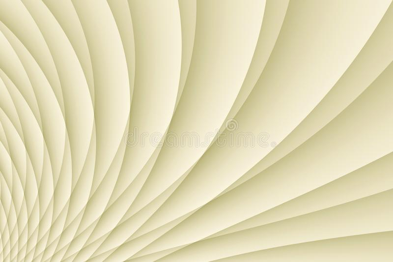 Fresh ivory white spinning pleated curves abstract wallpaper background illustration. Computer generated abstract wallpaper background illustration featuring a stock illustration