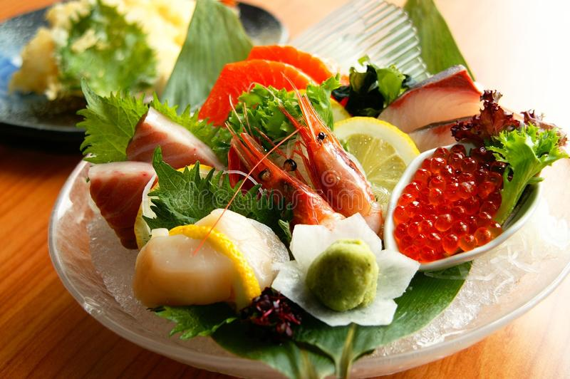 Fresh Japanese Seafood stock photos