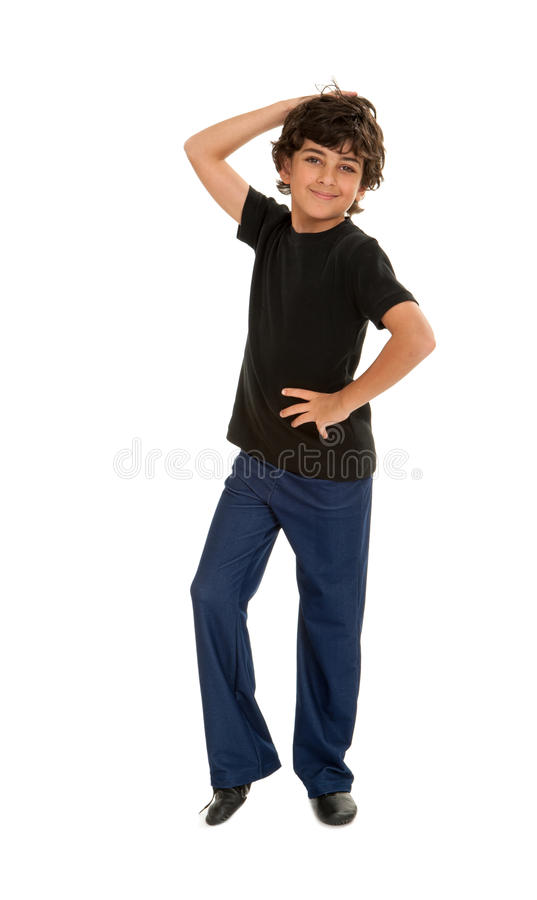 Fresh Jazz Dancing Boy. A Fresh Jazz Dancing Boy Ready For His Performance stock photos