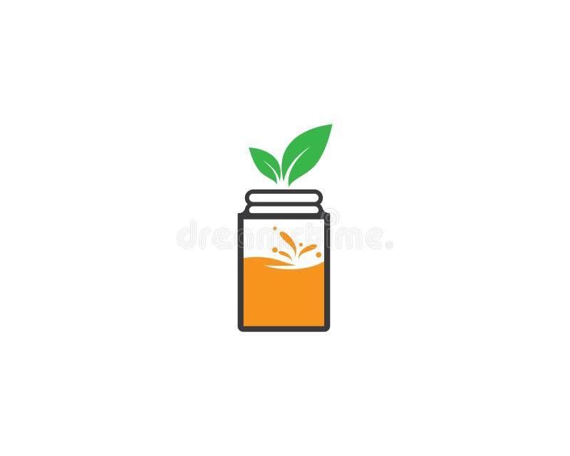 Fresh juice logo icon stock illustration