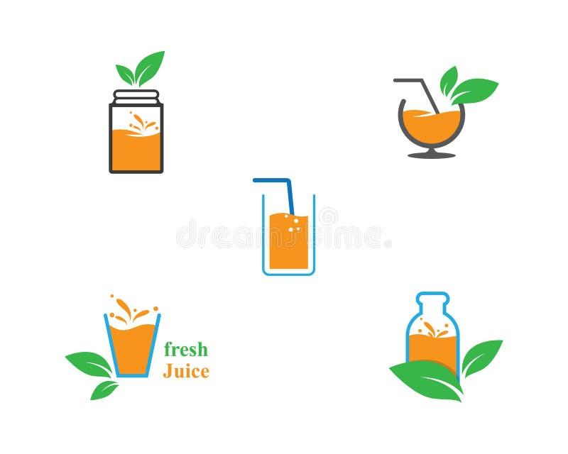Fresh juice logo icon vector illustration