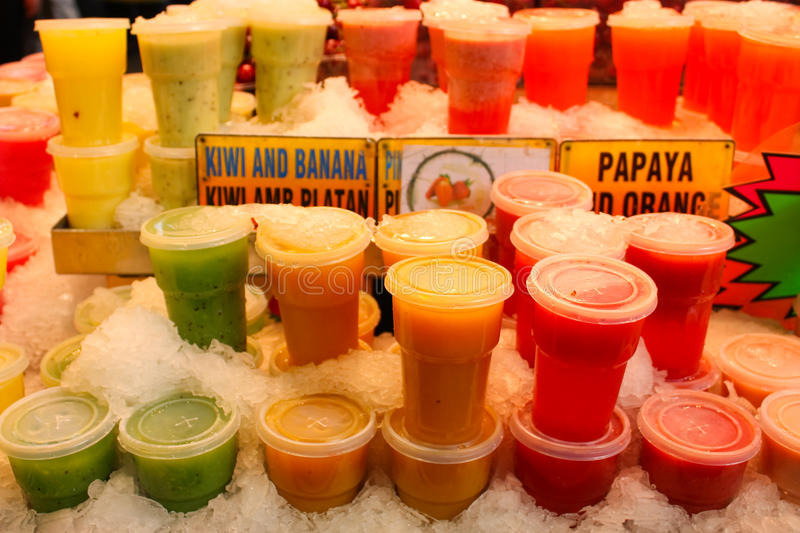 Fresh juices stock images