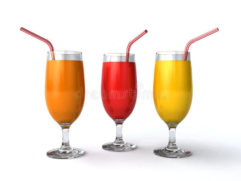 Download Fresh juices stock illustration. Illustration of glass - 26599437