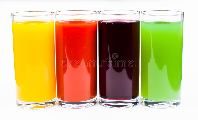 Download Fresh  Juices Isolated On White Stock Image - Image of cocktail, citrus: 31499249