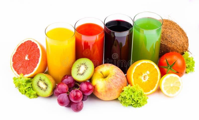 Download Fresh  Juices Isolated On White Stock Photo - Image of fruit, beverage: 31499262