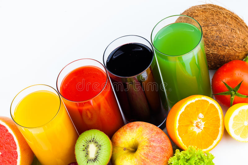 Download Fresh  Juices Isolated On White Stock Image - Image of half, food: 31499281