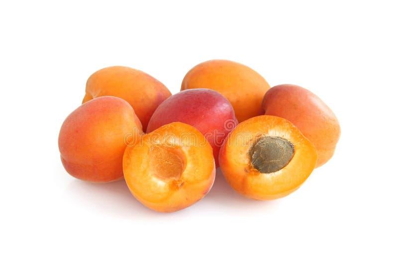 Fresh, juicy apricots royalty free stock photos