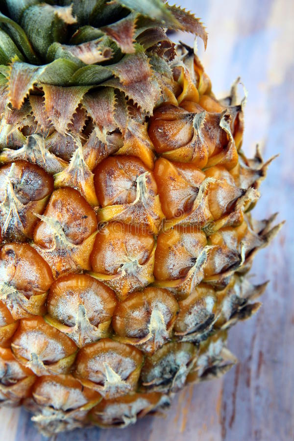Fresh juicy big pineapple stock images