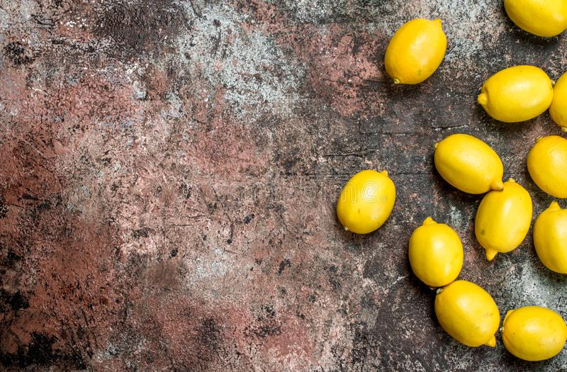 Fresh juicy lemons royalty free stock image