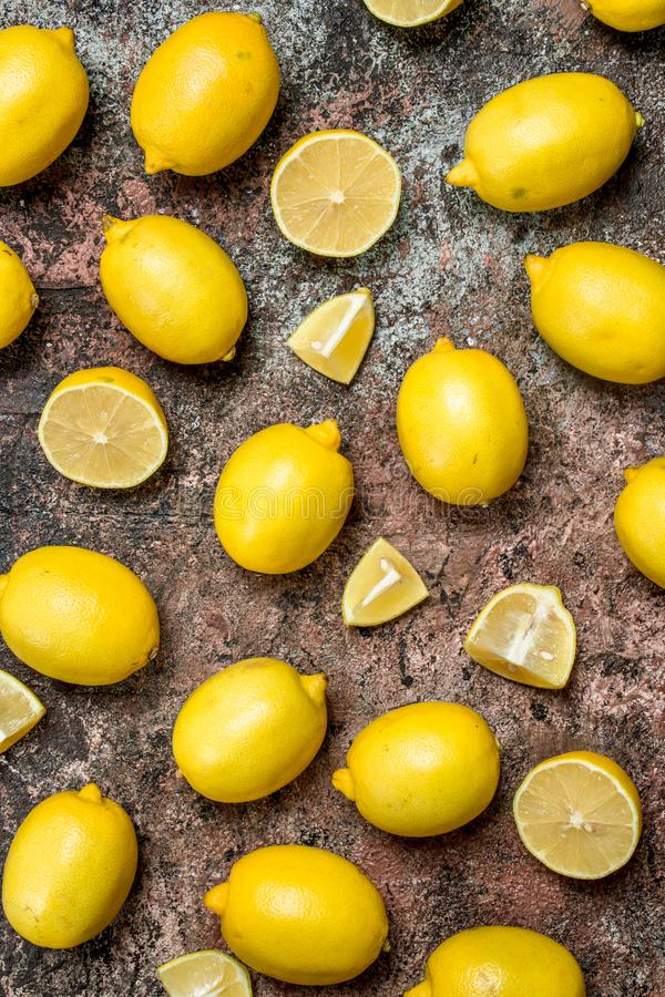 Fresh juicy lemons stock photo