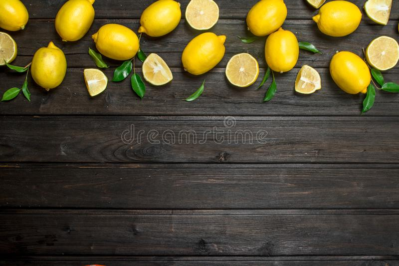 Fresh juicy lemons stock image