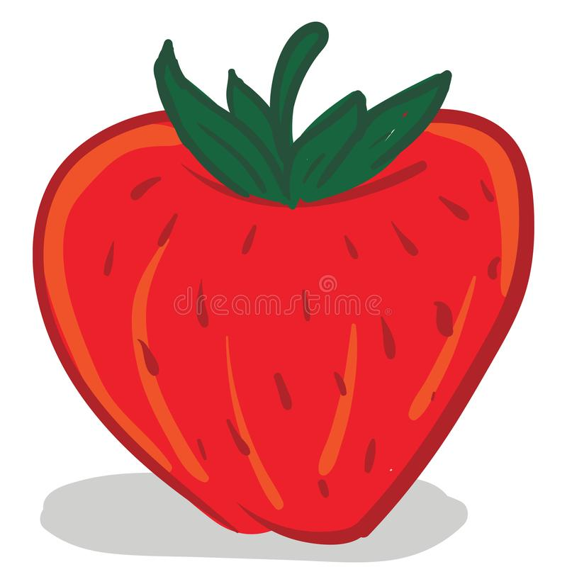 Cartoon Fresh Red Strawberry Stock Vector Illustration Of Ripe Freshness 49406448