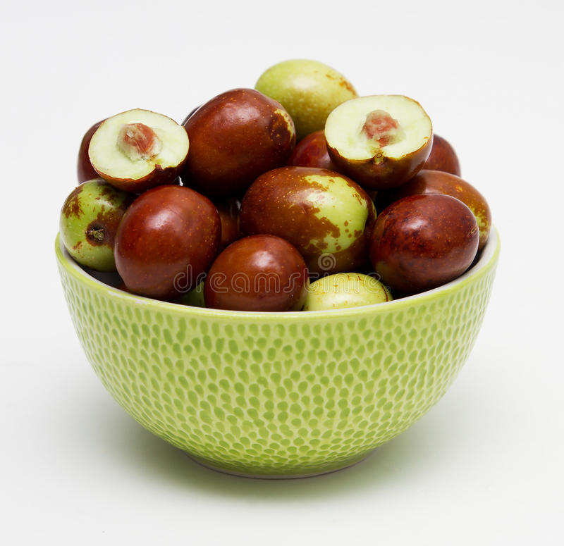 Fresh jujube fruit royalty free stock photography