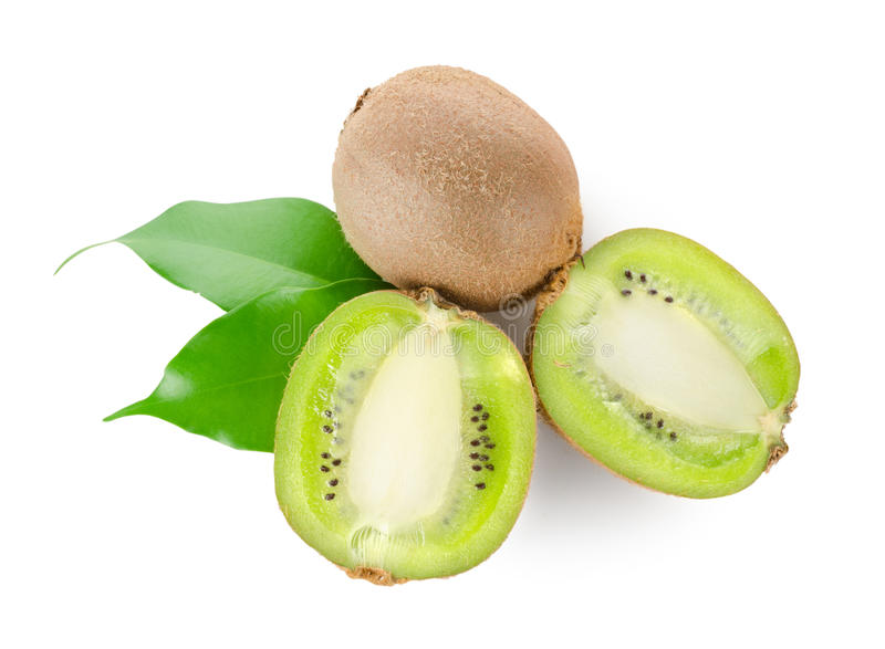 Download Fresh Kiwi Fruit With Green Leaves Royalty Free Stock Photos - Image: 22716758