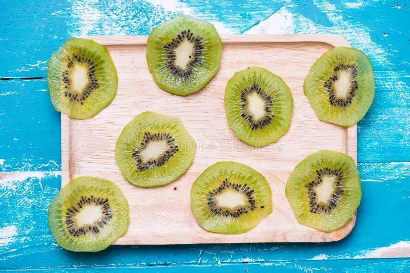 Fresh Kiwi fruit sliced for background stock photos