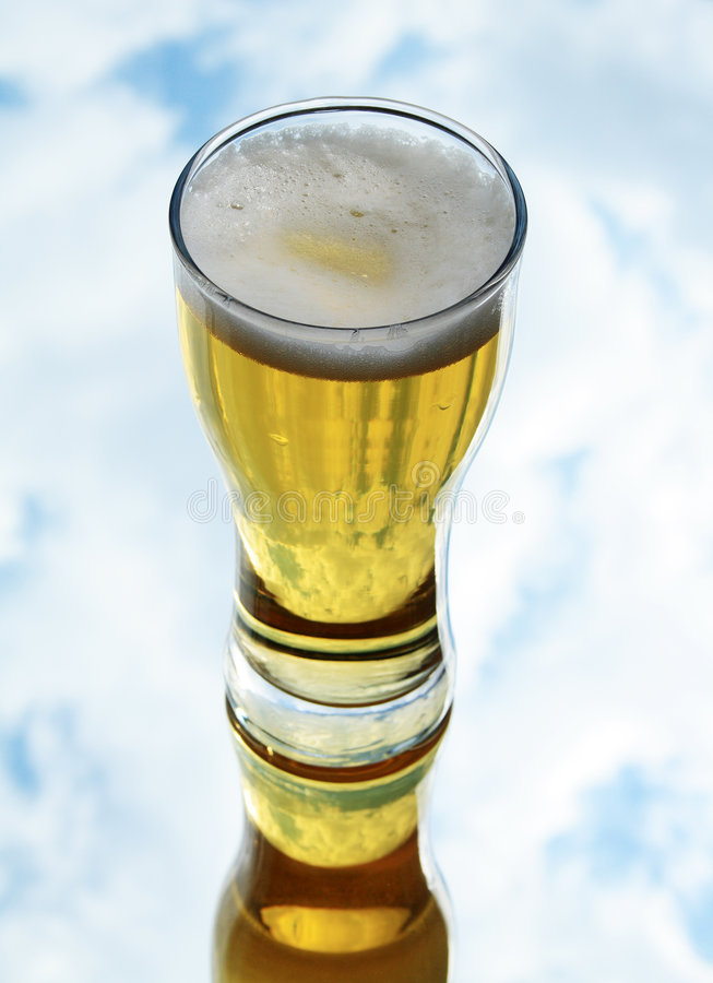 Download Fresh lager beer stock photo. Image of beer, cloud, spume - 5550512