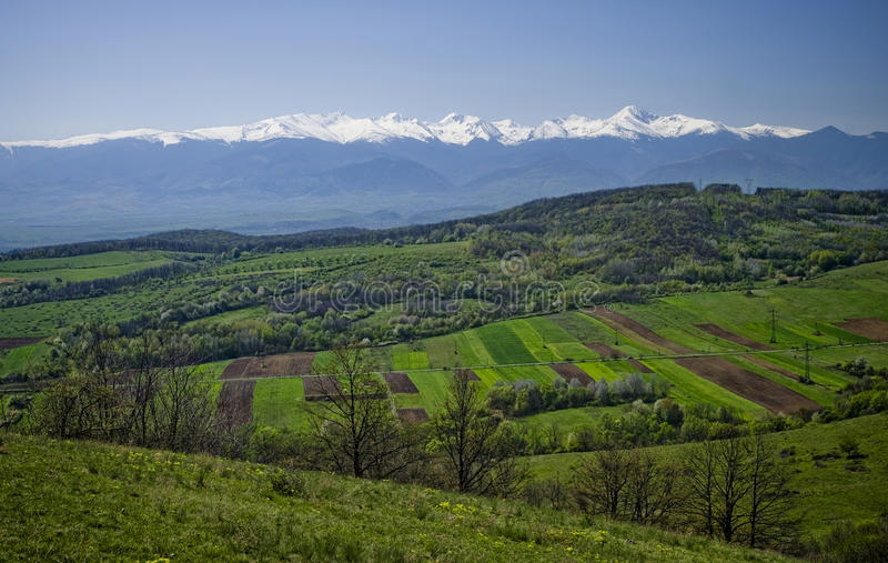 Download Fresh landscape stock image. Image of above, green, romania - 34413835