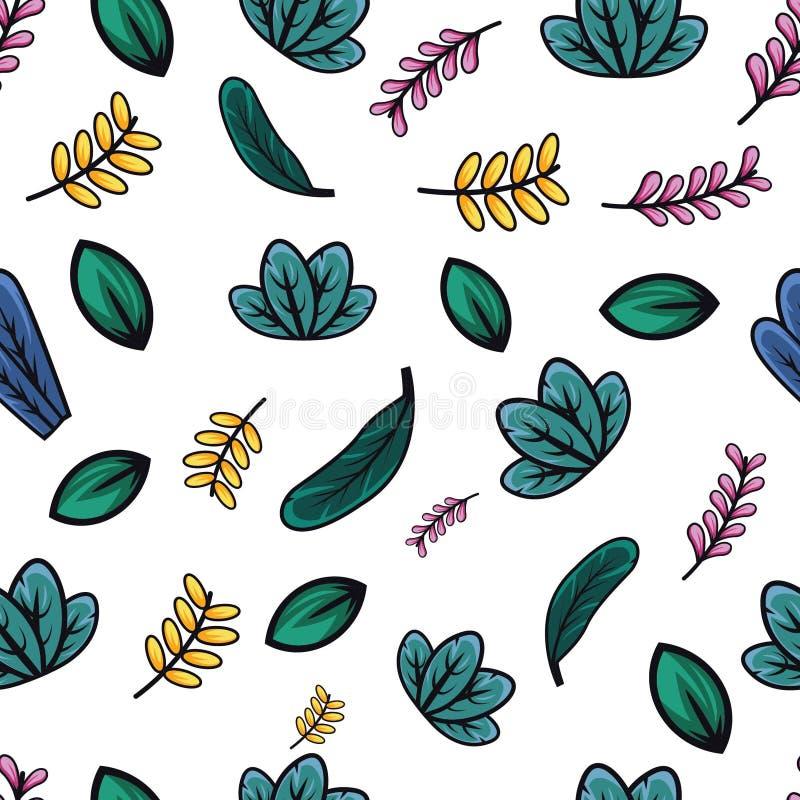 Fresh leaf pattern stock illustration