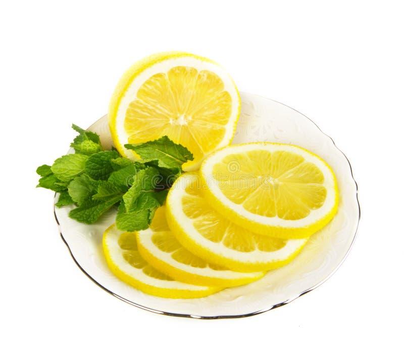 Fresh lemon fruit slices