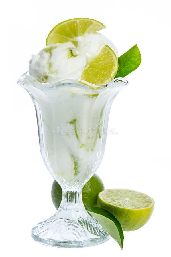 Fresh lemon icecream gobbler isolated on white background royalty free stock photos