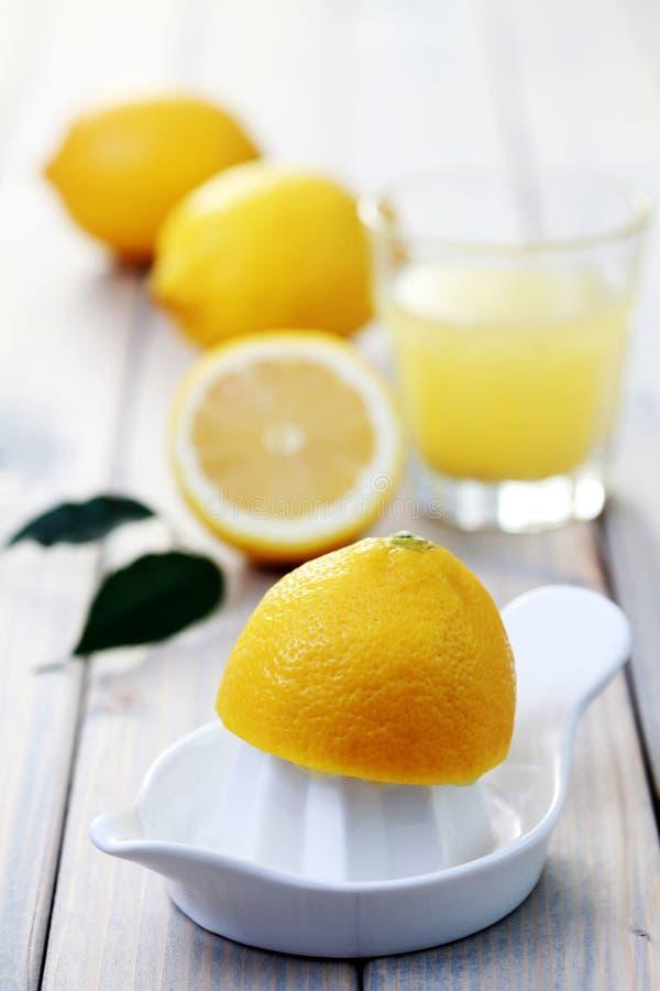 Fresh lemon juice royalty free stock photos