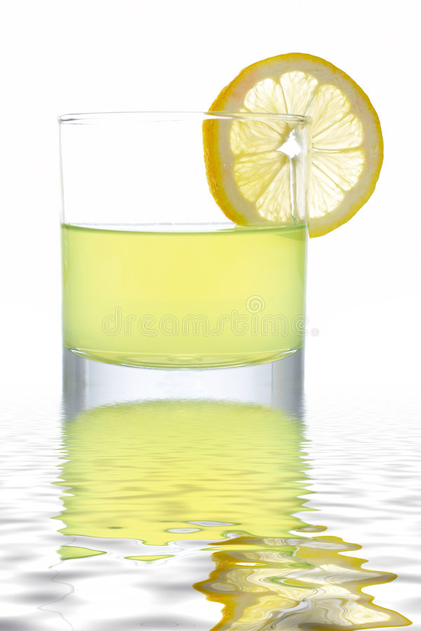 Download Fresh Lemon Juice With A Slice Stock Photo - Image: 3422006