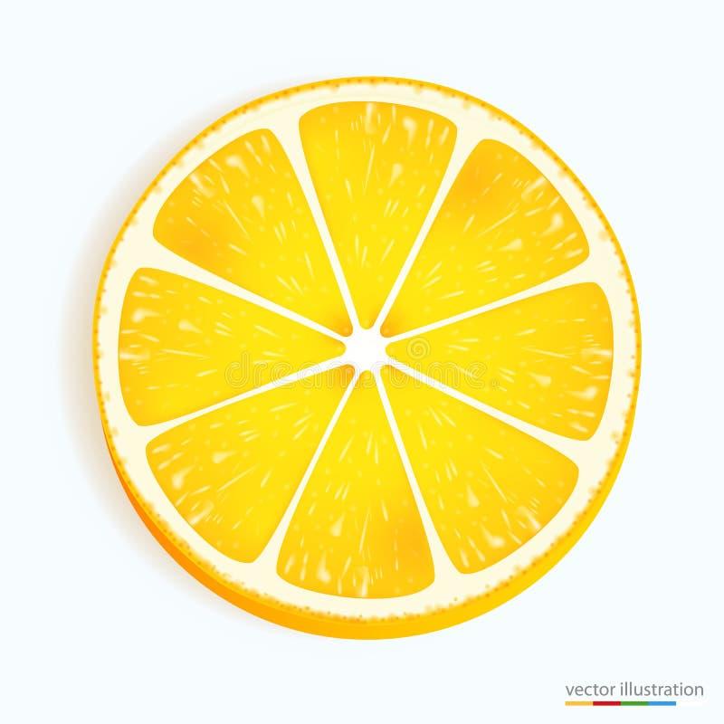 Free Fresh Lemon Slice Icon On A White Royalty Free Stock Images - 49616429
