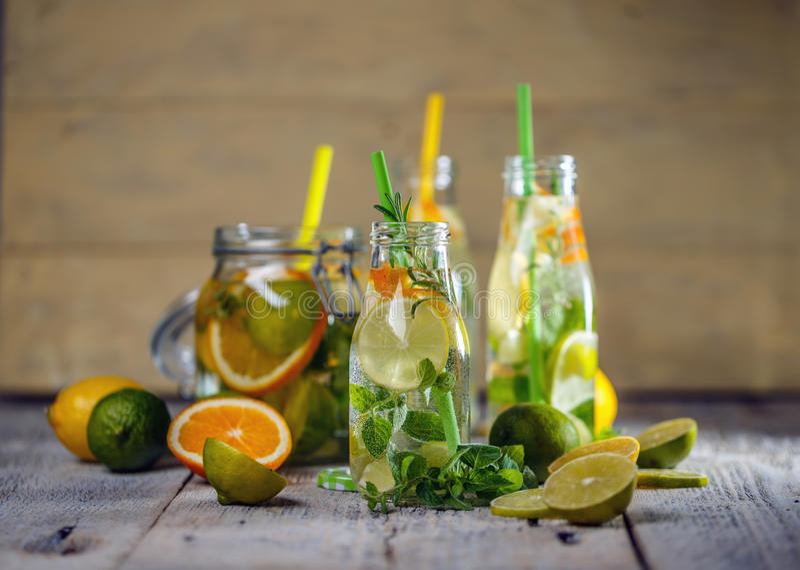 Fresh lemon water royalty free stock image