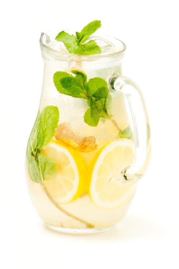 Free Fresh Lemonade From Lemon Ginger And Mint Stock Photos - 31365013