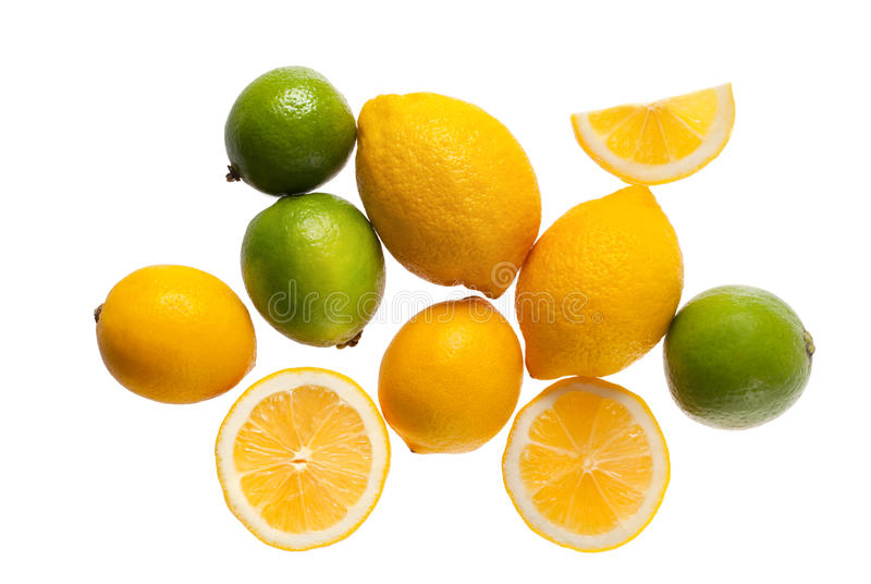 Download Fresh Lemons And Limes On A White Background Stock Photo - Image: 13471644